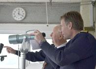 Dart Harbour Master visits Froward Point